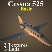3d cessna 525 basic model
