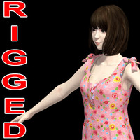japanese girl mariko dress 3d model