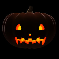 posing halloween pumpkin 2 3d model