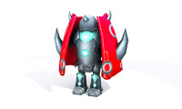 robots transformation animation 3d model