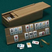 rummy boards cards 3d model