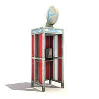 3d low-poly phonebooth