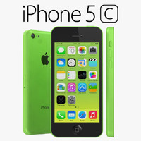 3d apple iphone 5c model