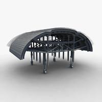 hydraulic arch form 3d model