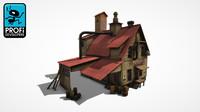 3d factory building model