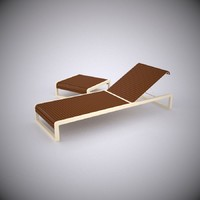 3d model of sun lounger table
