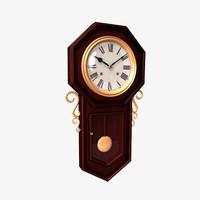 old clock 02 3d model