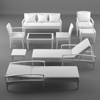 3ds max lounge furniture panama