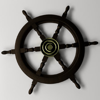 ships steering wheel 2 3d 3ds