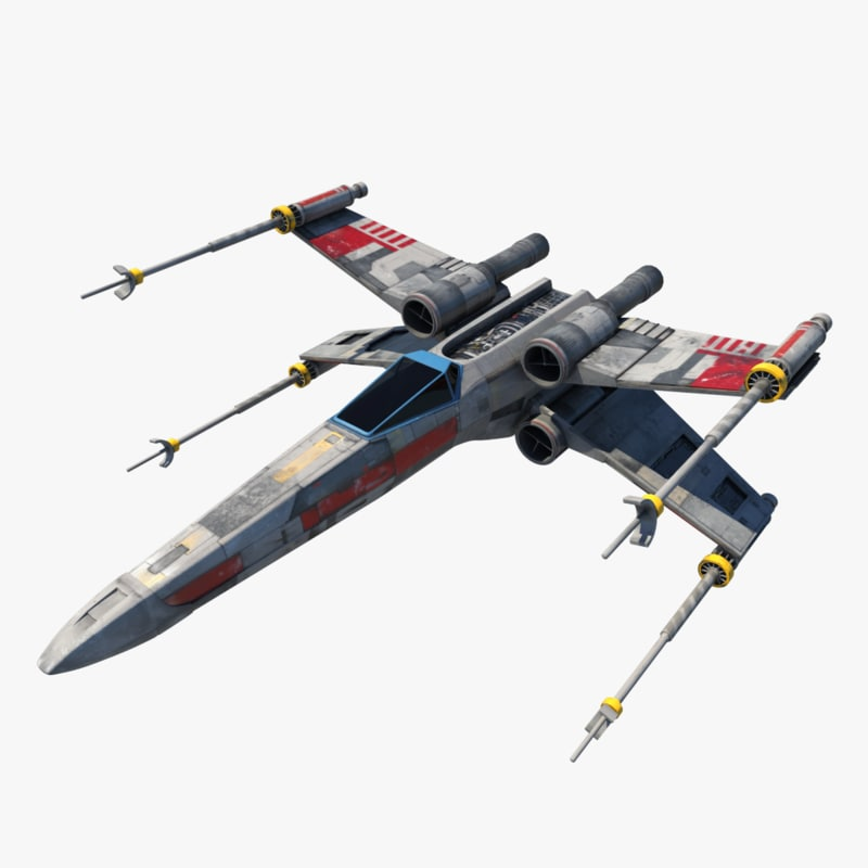 Star Wars X Wing 3d Max: X Wing Fighter 3d 3ds