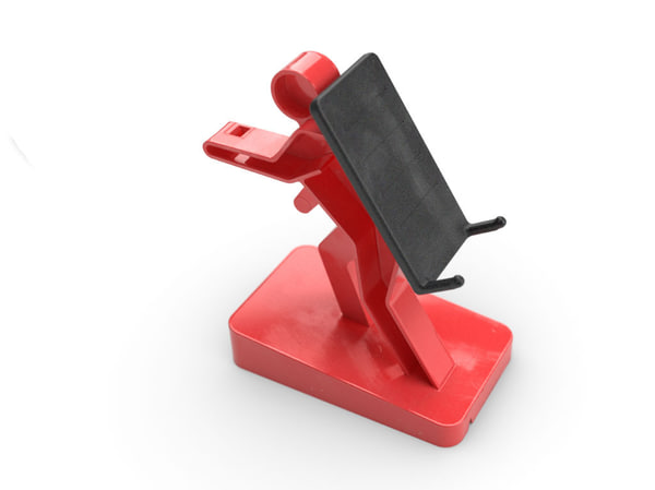 mobile phone stand 3ds - phone stand... by MartinUtrecht