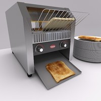 3d model catering toaster