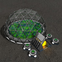 Biosphere sci-fi building