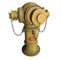 3d model hong kong hydrant