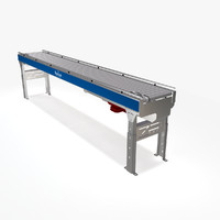 3d model bastian conveyor live roller