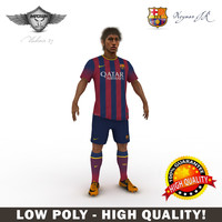 neymar soccer player 3d model