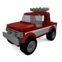 3d lego car