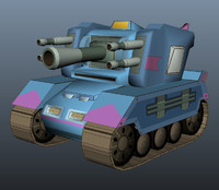 Tank Model Cartoon Style 3