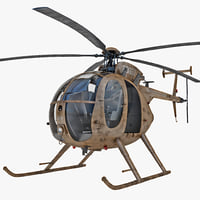 3d 3ds ah-6 little bird 4
