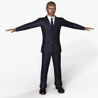 3d model human male suit