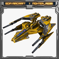 3d scifi fighter ag35 model