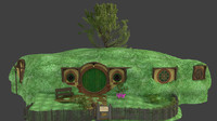3d hole bag end model