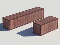 2 containers 3d max