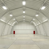 3ds hangar interior scene