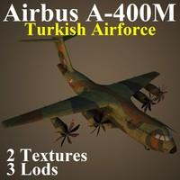 3d airbus a400m taf