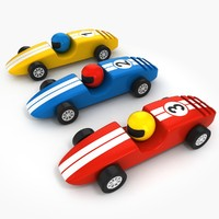 3d wooden racing cars model