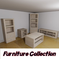 3d cupboard tv unit