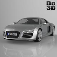 3d model of audi r8 2014