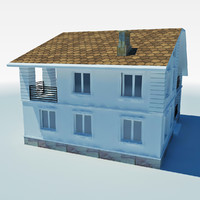low poly cottage house 4
