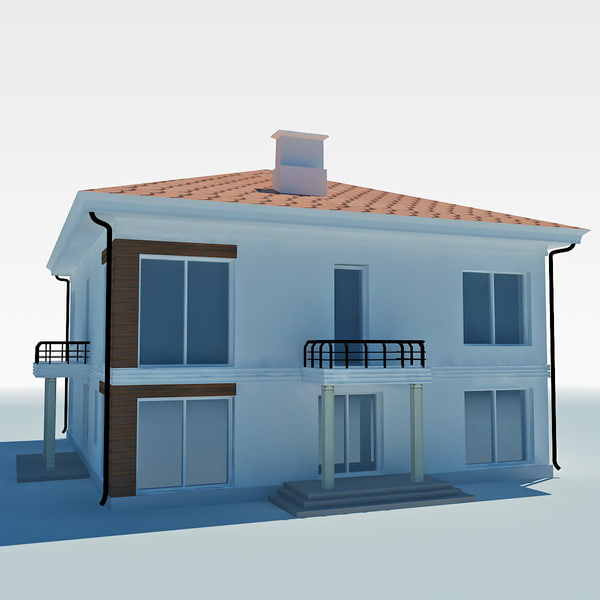 3d low-poly cottage model - low poly cottage house 2... by Dukekom