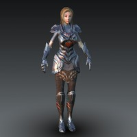 female fantasy warrior character 3d max