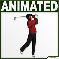 golf bag player cg 3d model