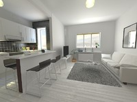 living kitchen room 3d max