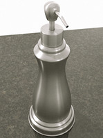 brushed soap dispenser 3d max