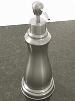 brushed soap dispenser 3d max
