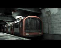 3D London Underground train