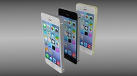 apple iphone 5s phones 3d model