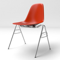 eames molded plastic chair seat 3d model