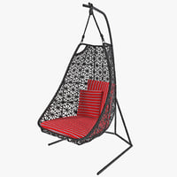 maya single swing garden chair