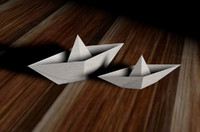 cinema4d paper boats