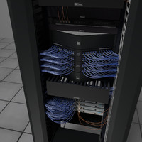 rack communications 3d blend