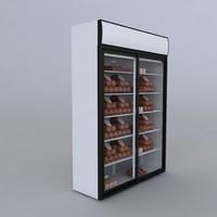 3d refrigerator model