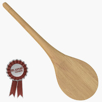 wooden baking spoon 2 obj