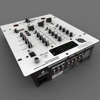 3d model behringer pro mixer dx-626