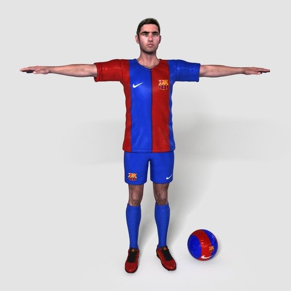 realistical football player fabian 3d model