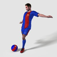 fabian european football player 3d max
